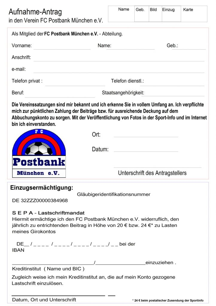 AUFNAHMEANTRAG A5